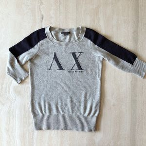 Armani Exchange Sweater - Grey/Navy